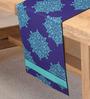 Sanjeev Kapoor's Bon Appetit Blue Fete Cotton 54 x 12 Inch Table Runner
