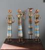 Raaga Set Of 4 Dolls Figurine in Multicolour by Mudramark