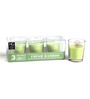 Hosley Bamboo Scented Glass Candle - Set of Three