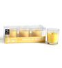 Hosley Tropical Mist Scented Glass Candle - Set of Three