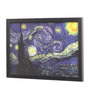 Seven Rays Glass, Fibre & Paper 8 x 1 x 12 Inch Starry Night by Vincent Van Gogh Framed Poster