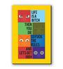 Seven Rays Multicolour Fibre Board Life Quote Fridge Magnet