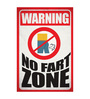 Seven Rays Paper 12 x 1 x 18 Inch Warning No Fart Zone Unframed Poster