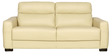 Shell Three Seater Sofa in Ivory Leatherette by Sofab