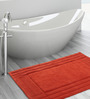 Shahenaz Home Shop Orange Cotton 24 x 16 Inch Bath Mat