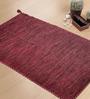 Shahenaz Home Shop Red Cotton 36 x 60 Inch Melange Dhurrie