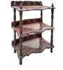 Sheesham Wood End Table with Jali & Brass Work by Saaga