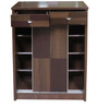 Shoe Cabinet in Brown Colour by Eros