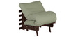 Single Futon with Mattress in Grey Colour by Auspicious Home