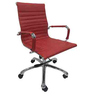 Sigma Medium Back Ergonomic Chair in Red Leatherette by Starshine