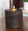 Ethnic Clock Makers Wenge Solid Wood Sillipar Tea Light Holder