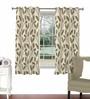 Skipper Beige Viscose & Polyester 44 x 60 Inch Eyelet Window Curtain (Model No: 090727)