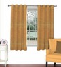 Skipper Beige Viscose & Polyester 44 x 60 Inch Eyelet Window Curtain (Model No: 093104)