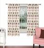 Skipper Multicolour Viscose & Polyester 44 x 60 Inch Eyelet Window Curtain (Model No: 092786)