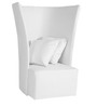 Sleek & Modern High Back Chair with a Flared Design in White Colour by Afydecor