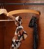 Sleek Wooden Brown Belt Hanger