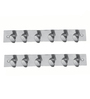 SmartShophar Stainless Steel Wall Hook Trums 6 hooks  set of 2