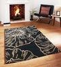 Sofiabrands Black Viscose Floral Carpet