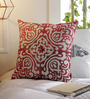 Solaj Multicolour Cotton 16 x 16 Inch Embroidery Indian Ethnic Cushion Cover