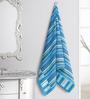 ESPRIT Striped Blue Cotton Hand Towel