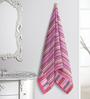 ESPRIT Striped Pink Cotton Hand Towel
