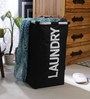 Spread Polyester 50 L Black Laundry Basket
