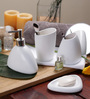 SS Silverware White Ceramic Bathroom Accessories - Set of 4