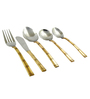 SS Silverware Stainless Steel With Copper Coating Cutlery Set -Set Of 10