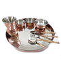 SS Silverware Stainless Steel With Copper Coating Dinner Set -Set Of 8