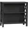 Stark Cross Sided Two Shelves Book Shelf in Black Colour by Asian Arts