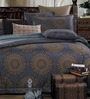 Stoa Paris Multicolour Cotton Abstract Double Bed Sheet (with Pillow Covers) - Set of 3