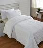 Stoa Paris White Cotton Abstract Single Quilt
