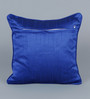 Stybuzz Blue Dupion Silk 16 x 16 Inch Cushion Covers - Set of 5