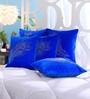Stybuzz Blue Dupion Silk 16 x 16 Inch Cushion Covers - Set of 5