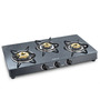 Sunflame Crystal Granito Toughened Glass 3-burner Auto Ignition Cooktop
