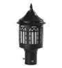 Superscape Outdoor Lighting Gl4646 Black Mild Steel Gates Light
