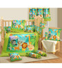 Swayam Jungle 7-Piece Baby Crib Bedding Set