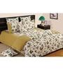 Swayam Sea Green Cotton Bed sheet - Set of 2
