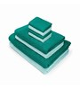 Swiss Republic Green and Blue Cotton  Bath, Hand and Face Towel - Set of 8