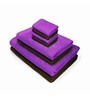 Swiss Republic Purple and Brown Cotton  Bath, Hand and Face Towel - Set of 8