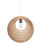 Sylvn Studio Brown Corrugated Cardboard Concentric Lamp Pendent