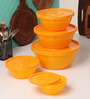 Tallboy Mahaware Space Saver Yellow Storage Container - Set of 5
