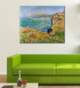 Tallenge Gallery Wrap Canvas 18 x 24 Inch Old Masters Collection Cliffs At Varengeville by Claude Monets Framed Digital Art Prints