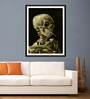 Tallenge Photographic Paper 18 x 24 Inch Old Masters Head of A Skeleton with A Burning Cigarette by Vincent Van Gogh Framed Digital Art Print