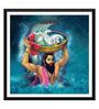 Tallenge Paper 12 x 0.5 x 17 Inch Baby Krishna & Vasudev Janmashtami Framed Digital Poster