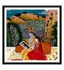 Tallenge Paper 12 x 0.5 x 17 Inch Krishna & Radha Looking into A Mirror Framed Digital Poster