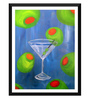 Tallenge Paper 12 x 0.5 x 17 Inch Martini Dream Framed Digital Poster
