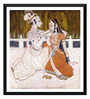 Tallenge Paper 18 x 0.5 x 18 Inch Krishna & Radha Framed Digital Poster