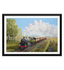Tallenge Paper 24 x 0.5 x 16 Inch Every Child Loves Trains Painting Framed Digital Poster
