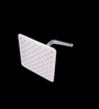 Taptree White ABS & Brass 8 x 8 Inch Over Head Shower with Hand Shower Along with Pipe